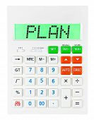 Calculator With Plan