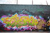 Graffiti art at East Williamsburg in Brooklyn