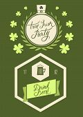 Saint Patrick's Day poster vector illustration.