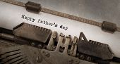 image of typewriter  - Vintage typewriter old rusty and used happy father - JPG