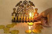 stock photo of hanukkah  - Photo of a dreidel  - JPG