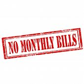 No Monthly Bills-stamp