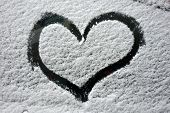 Car Snow Heart