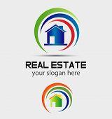 House and swirly logo
