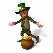 Leprechaun With Golden Coins