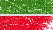 Flag Of Tatarstan With Old Texture. Vector