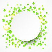 Happy St. Patrick's Day background with shamrock