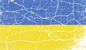 Flag Of Ukraine With Old Texture. Vector