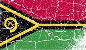 Flag Of Vanuatu With Old Texture. Vector