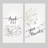 picture of thankful  - Card with the words thank you - JPG