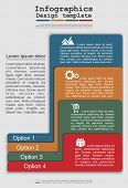 Infographics with elements and icons. Vector illustration
