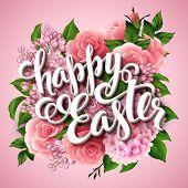 Easter poster. Vector illustration