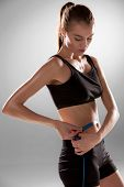 Fit And Healthy Waist Measured With A Tape