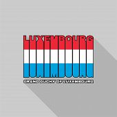 Luxembourg Flag Typography, T-shirt Graphics