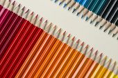 collection of colored wooden pencils