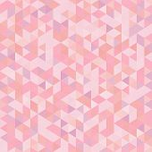 Light Seamless Pattern Of Triangles