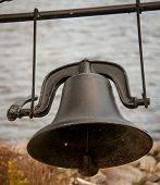 black iron bell
