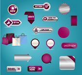 Vector business buttons mega-pack.