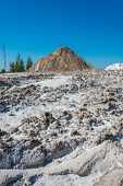 Mountain with sand and salt.