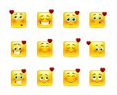 Set Valentine Emoticons