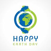 picture of earth  - Creative Happy Earth Day Greeting stock vector - JPG