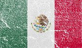 Flag Of Mexico With Old Texture. Vector