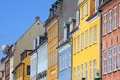 picture of copenhagen  - Nyhavn street in Copenhagen Denmark - JPG