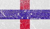 Flag Of Netherlands Antilles With Old Texture. Vector