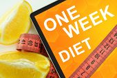 one week diet on tablet.