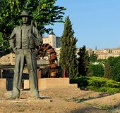 Monument To Agricultor With A Spud, Toledo, Spain