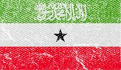Flag Of Somaliland With Old Texture. Vector