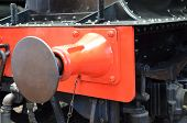 stock photo of locomotive  - Steam trains connecting coupling on a British locomotive - JPG