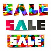 Sale Colorful Vector Titles Set