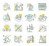 Flat design concept icons on marketing theme.