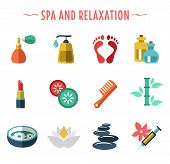 spa icons flat style