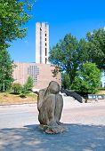 Lahti. Finland. The Sitting Willow Statue