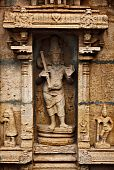 picture of trichy  - Bas relief in Hindu temple - JPG