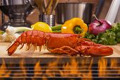 Fresh Steamed Lobster and Barbecue Grill