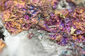 Chalcopyrite In Quartz, It Has The Chemical Formula (cufes2).