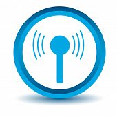 Blue connection icon