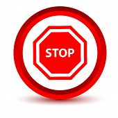 Red stop icon