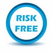 Blue risk free icon