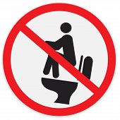 Do not poo on water tank, sign, vector, illustration