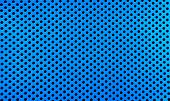stock photo of metal grate  - Old metal grate with round holes painted in light blue as a texture - JPG