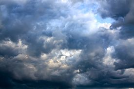 pic of ozone layer  - the background from the sky and dark storm clouds - JPG