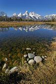 Teton Mountain Range Reflecting