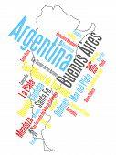Ciudades y mapa de Argentina