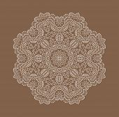 image of lace  - Lace decorative ornament - JPG