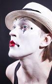 Retrato del Actor de pantomima con maquillaje