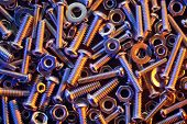 picture of bolt  - Nuts and bolts background - JPG